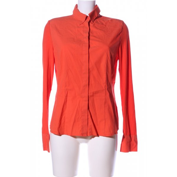Ancora Langarm-Bluse rot Business-Look