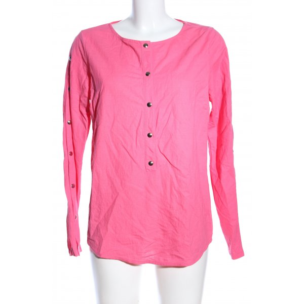 Ancora Langarm-Bluse pink Business-Look