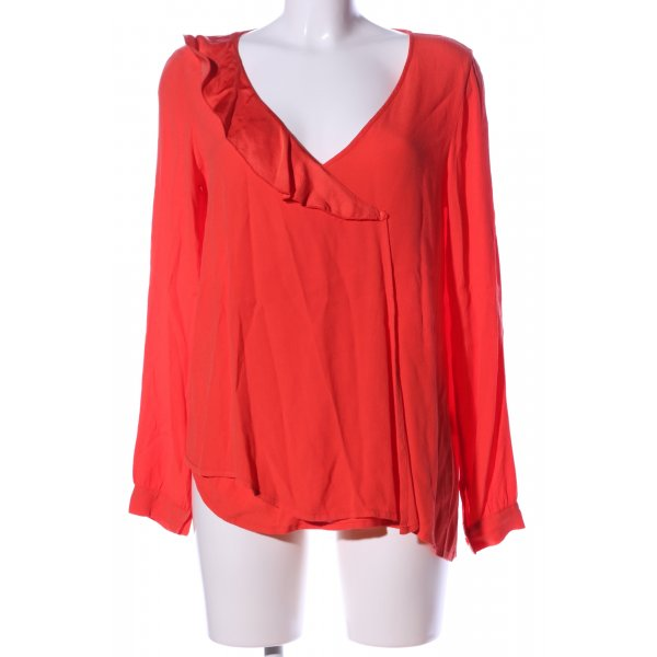 Ancora Langarm-Bluse rot Casual-Look