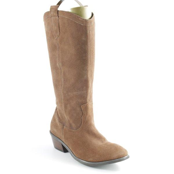 Andrea Conti Halfhoge laarzen bruin country stijl
