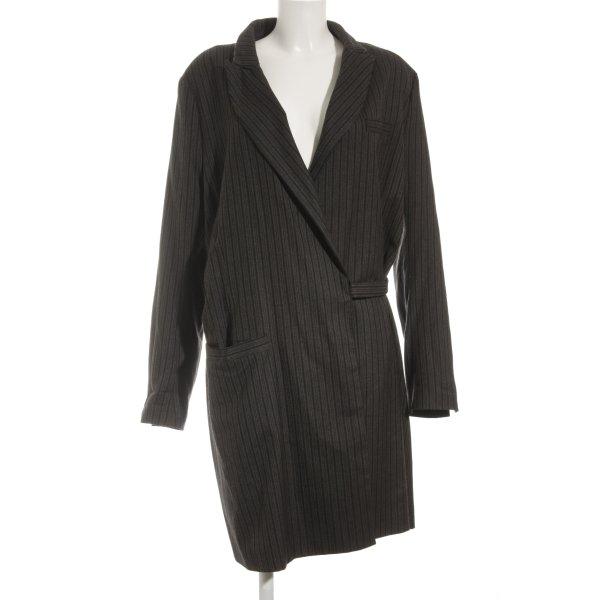 Anette Görtz Wollen jas gestreept patroon zakelijke stijl