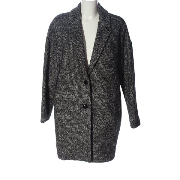 Angela Davis bodenlanger Mantel schwarz-weiß Casual-Look