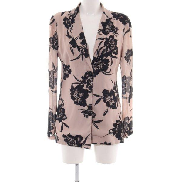 Angela Davis Cardigan pink-schwarz Blumenmuster Business-Look