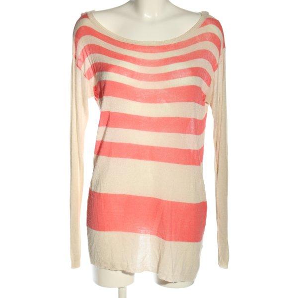 Angela Davis Longpullover pink-creme Streifenmuster Casual-Look