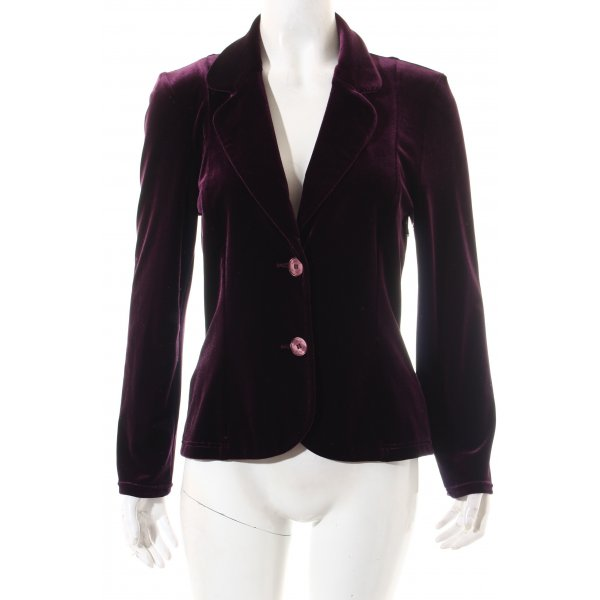 Angie Blazer violet foncé style mouillé