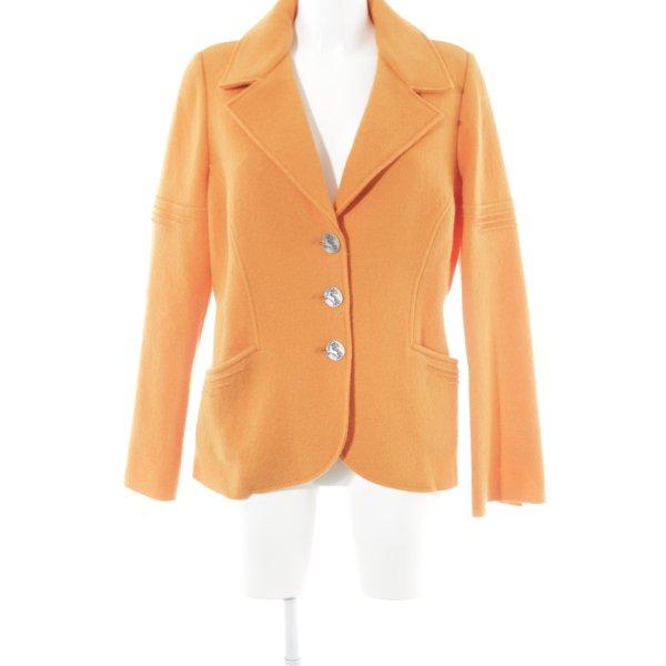 Angiemiller Wolljacke orange extravaganter Stil