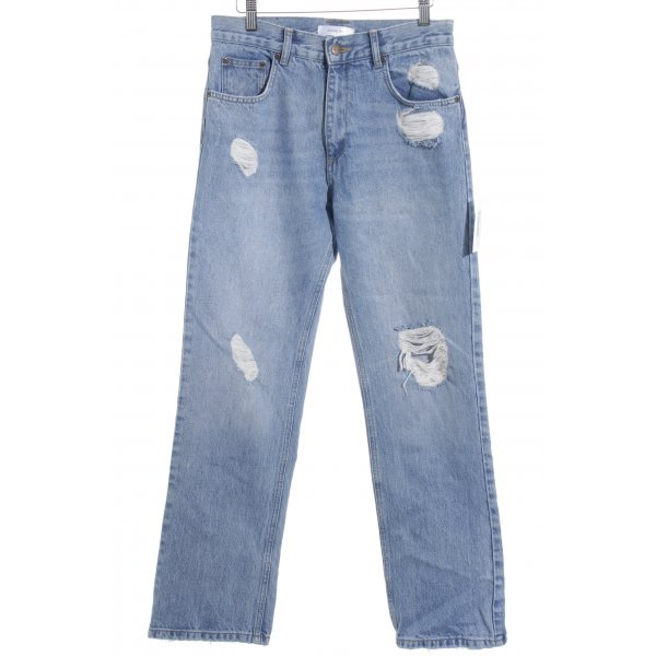 Anine Bing High Waist Jeans blau Destroy-Optik