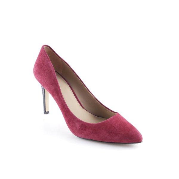 Ann Taylor High Heels karminrot Casual-Look