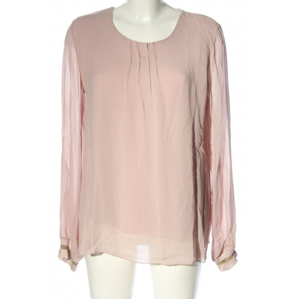 Anna Justper Langarm-Bluse pink Business-Look