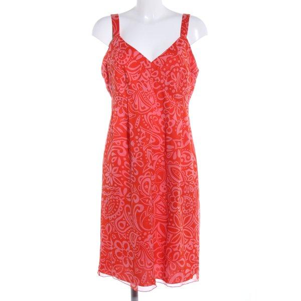 Anna Sui Trägerkleid rot-pink Allover-Druck Casual-Look