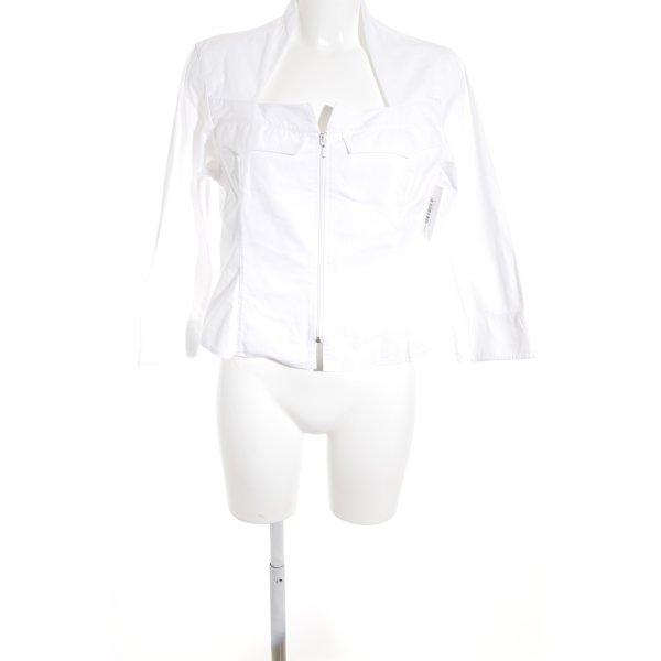 Anne Fontaine Veste courte blanc style décontracté