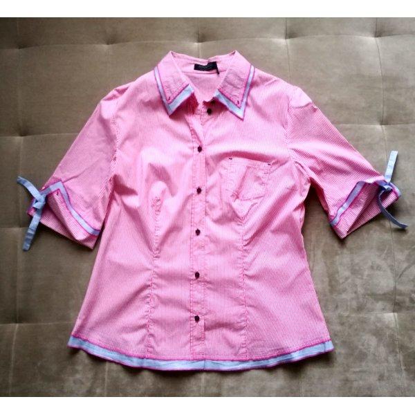 Apanage Blouse met korte mouwen roze-azuur
