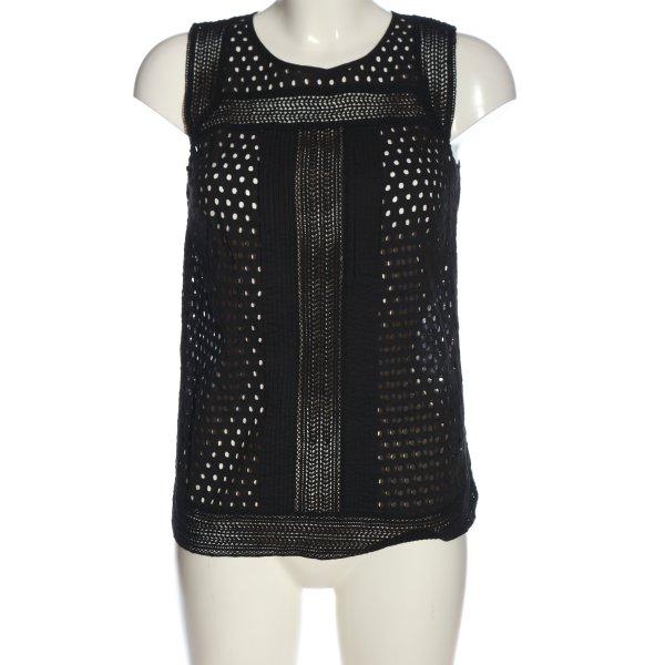 Apanage Schlupf-Bluse schwarz Casual-Look