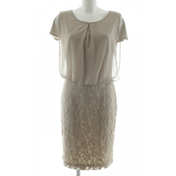Apange Blusenkleid khaki Blumenmuster Business-Look