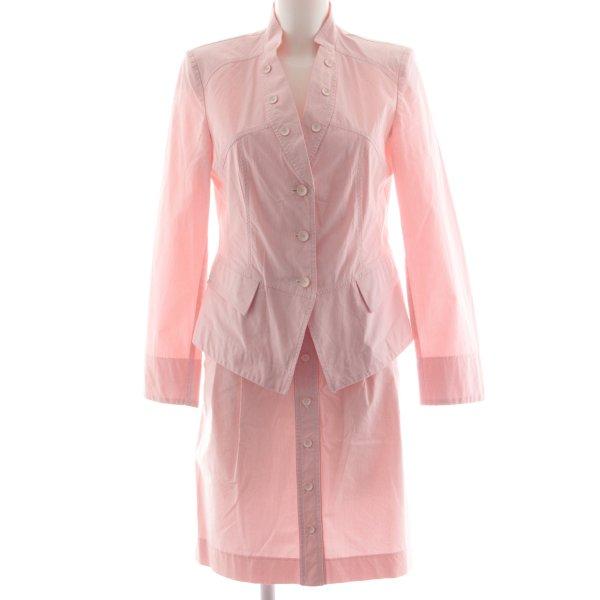 Apange Kostüm rosa-weiß Streifenmuster Business-Look