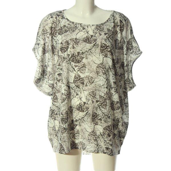 Apricot Oversized Shirt weiß-schwarz Allover-Druck Casual-Look