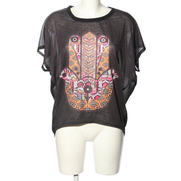 Apricot T-Shirt Motivdruck Casual-Look