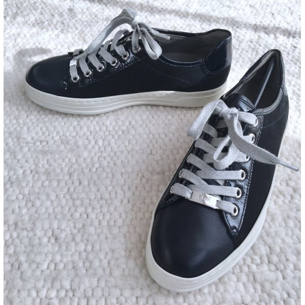 Ara Sneaker Courtyard aus Lackleder Glattleder & Nubukleder schwarz Gr. 37 Neu