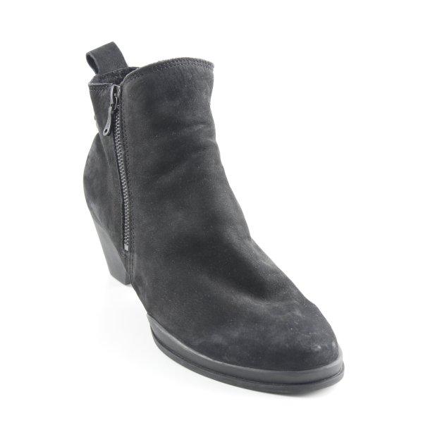 Arche Reißverschluss-Stiefeletten schwarz Casual-Look