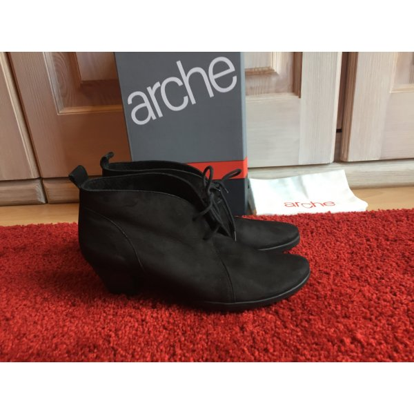 Arche Stiefelette Ankle Boots schwarz 39,5 Nubuk Leder 39 France