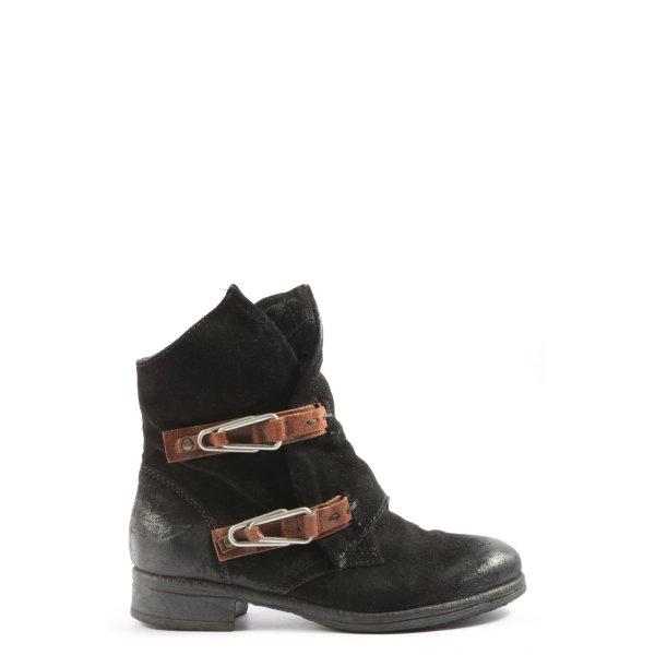 Arizona Reißverschluss-Stiefeletten schwarz-braun Elegant