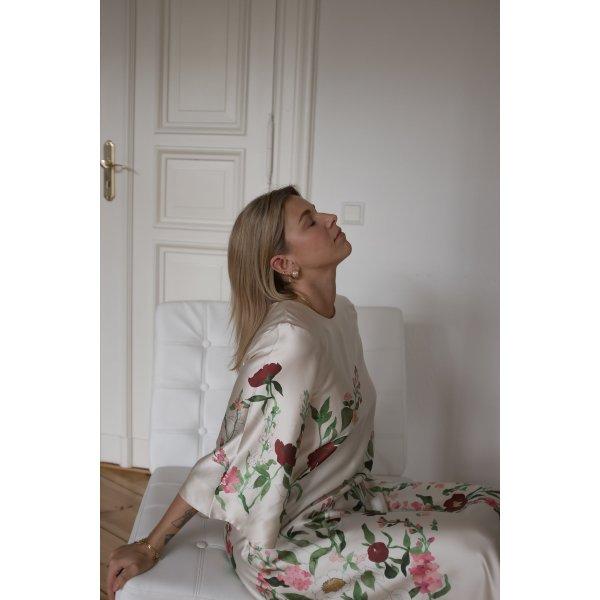 ARKET A-Linien Kleid Blumenmuster Elegant