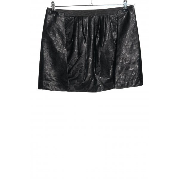 Armani Exchange Minirock schwarz abstraktes Muster Business-Look