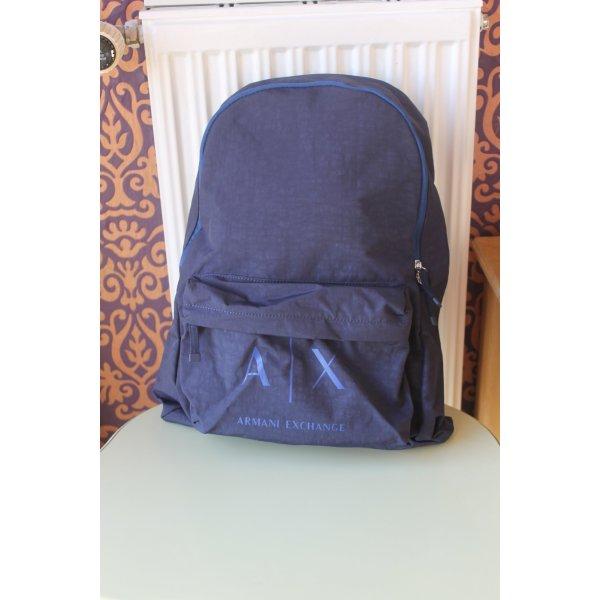 Armani Exchange Zaino per la scuola blu scuro Nylon