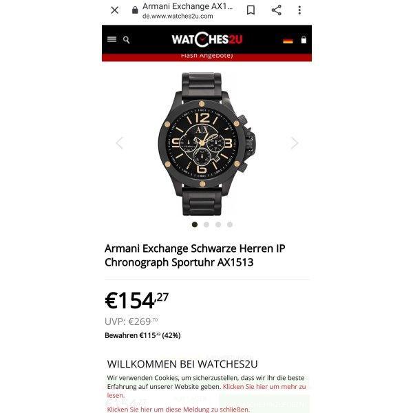 Armani ExchangeSchwarze Herren Chronograph SportuhrAX1513