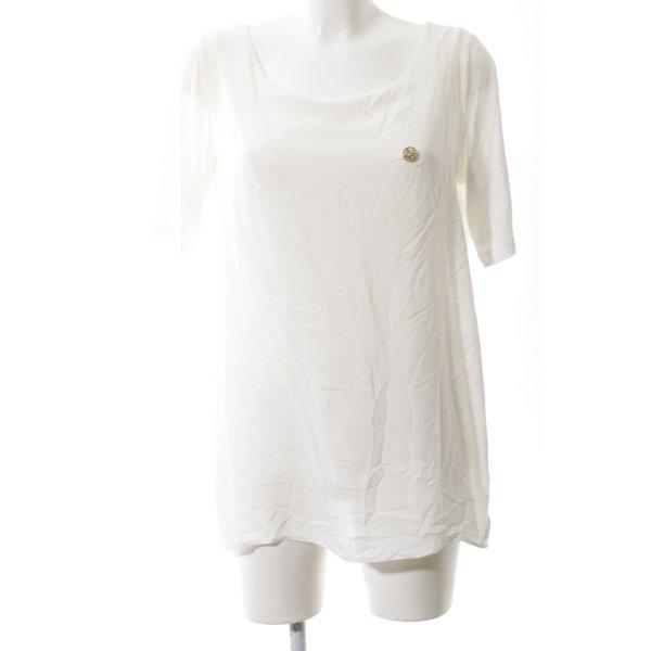 Armani Jeans Schlupf-Bluse weiß schlichter Stil
