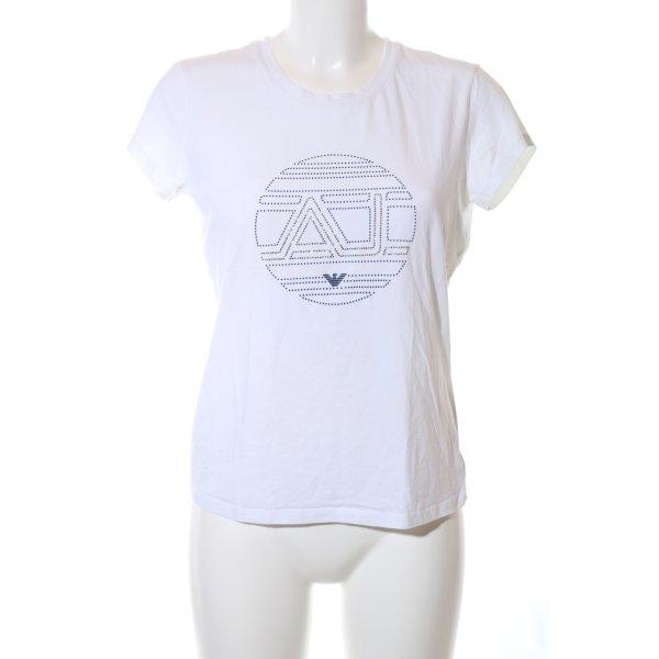 Armani Jeans T-Shirt weiß Casual-Look