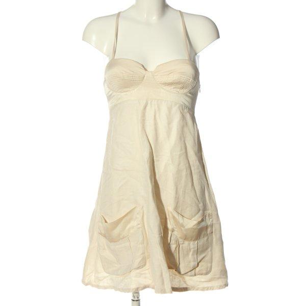 Armani Jeans Sukienka na ramiączkach w kolorze białej wełny W stylu casual