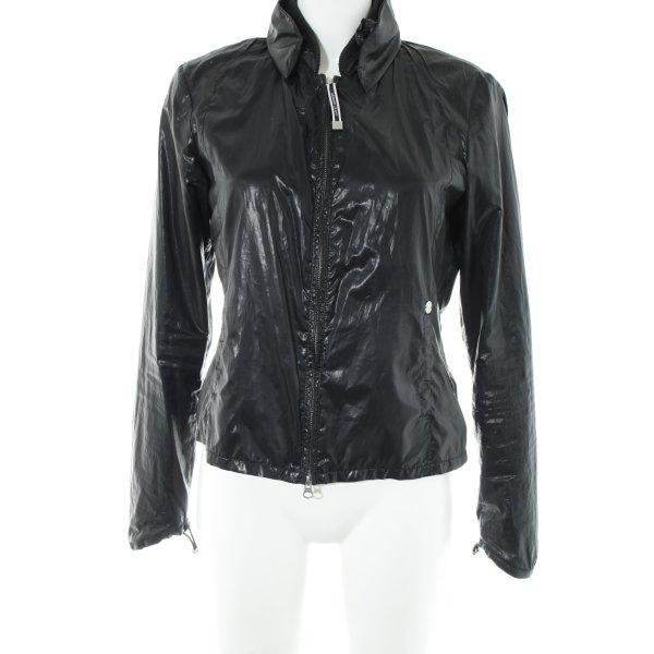 Armani Jeans Übergangsjacke schwarz Casual-Look