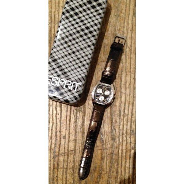 Armbanduhr Uhr ESPRIT schwarz Echtere Swarovski