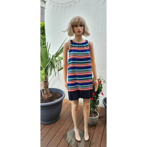 Armloses Kleid mit Streifen