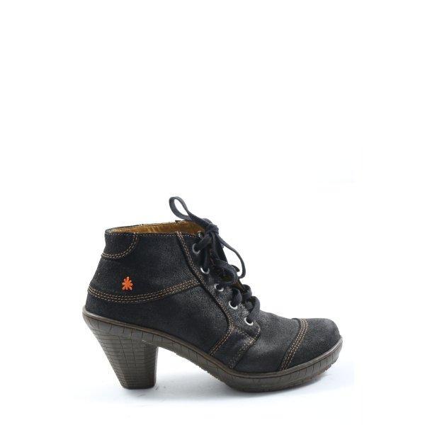 Art Schlüpf-Stiefeletten schwarz Casual-Look