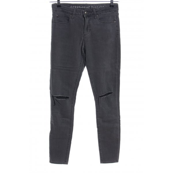 Articles of Society Skinny Jeans hellgrau Casual-Look