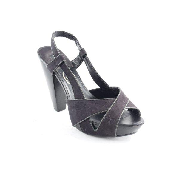 ASH Plateau-Sandaletten schwarz schlichter Stil