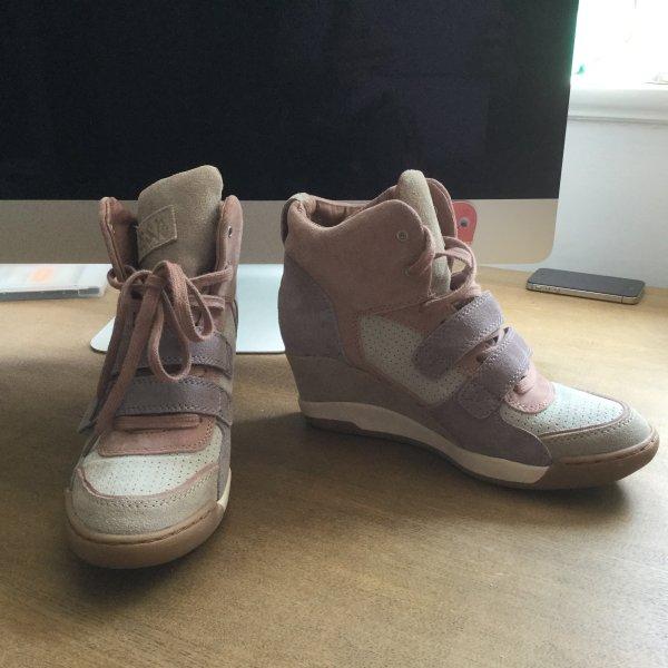 Ash Sneaker Wedges rosa lila und grau