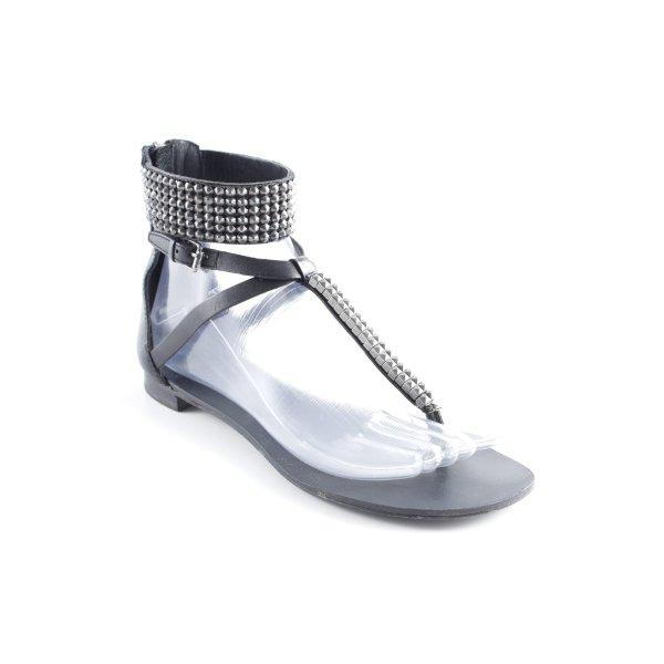 ASH Sandalo toe-post nero stile da moda di strada