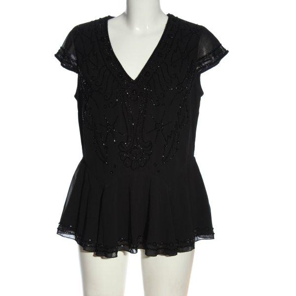 Ashley Brooke Kurzarm-Bluse schwarz Casual-Look