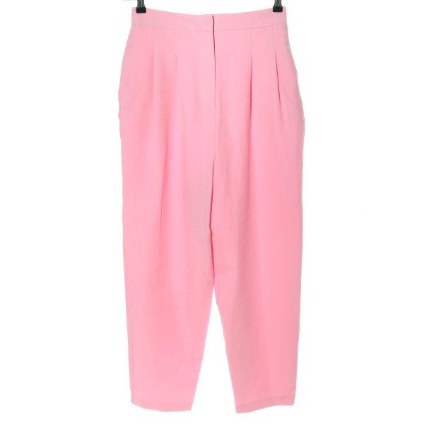 Asos Bundfaltenhose pink Casual-Look