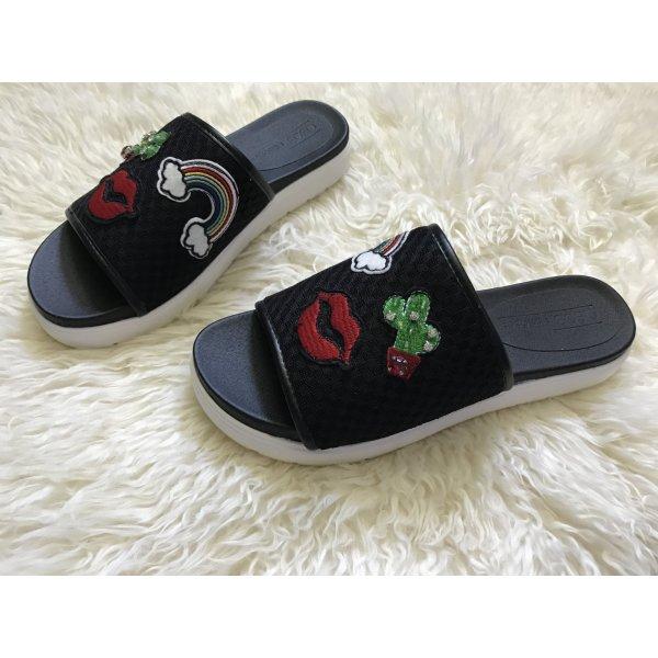 Asos Sandalo outdoor nero-rosso