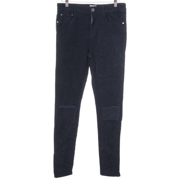 Asos Denim Skinny Jeans dunkelblau Destroy-Optik