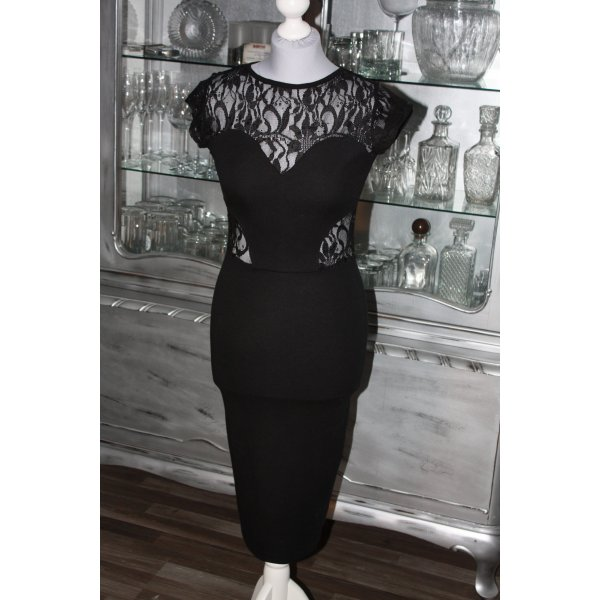 ASOS Kleid Abendkleid Etuikleid 36 schwarz