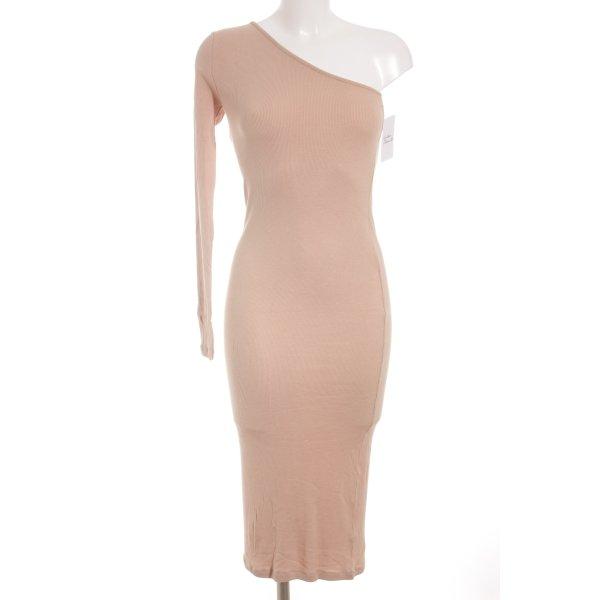 Asos One-Shoulder-Kleid nude Casual-Look