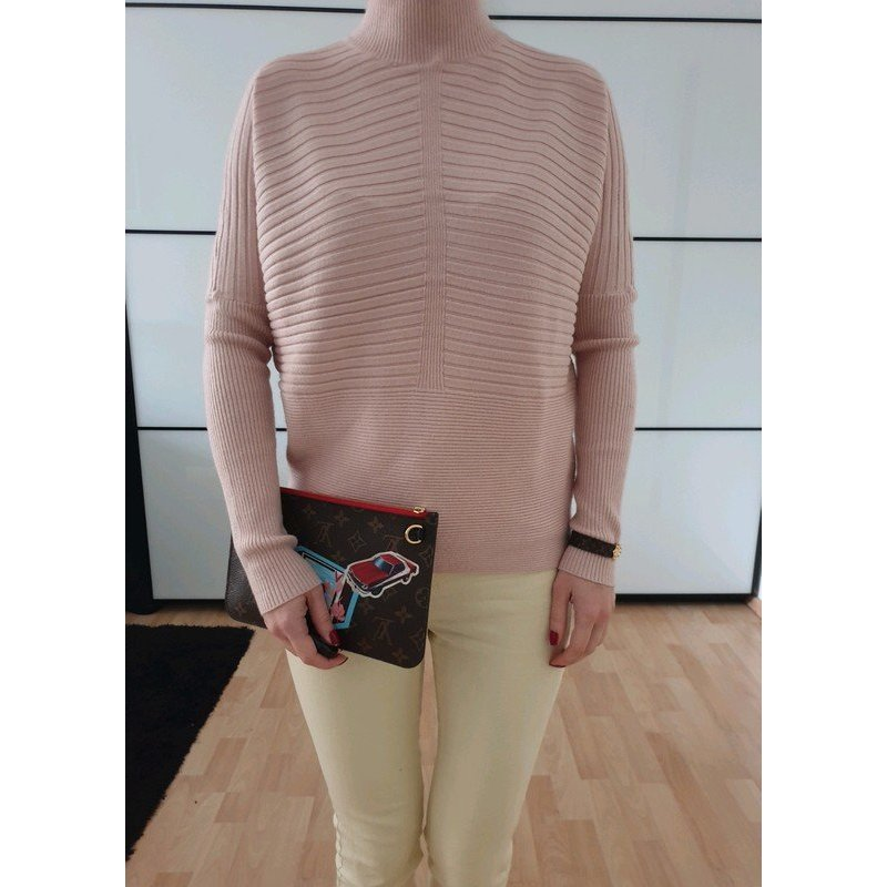 Asos oversized Pullover XS S M 34 36 Pastell Pulli Rollkragen Longpulli Bluse Sweatshirt Neu