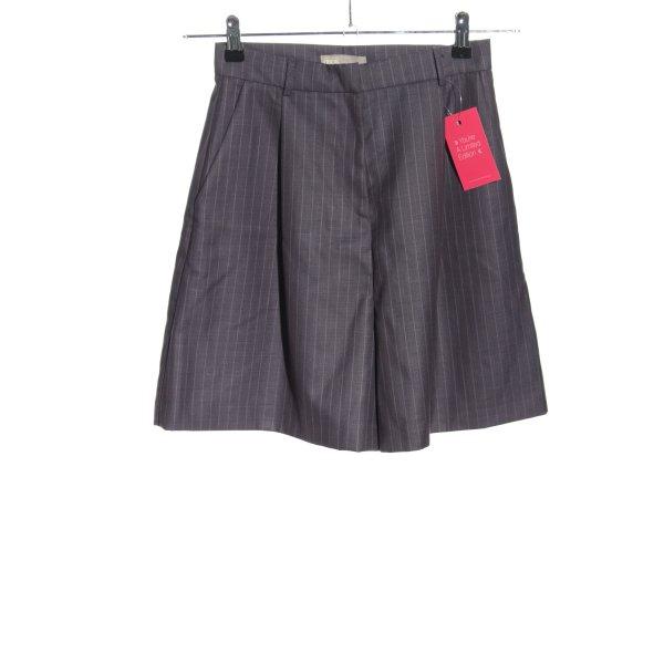 Asos Shorts hellgrau Streifenmuster Casual-Look
