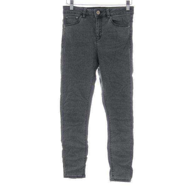 Asos Skinny Jeans hellgrau Casual-Look