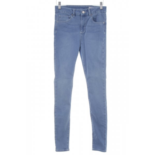 Asos Skinny Jeans stahlblau-himmelblau Casual-Look